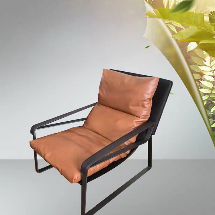 custom luxury outdoor head leather sleeping lounge couch single sofa deck chair