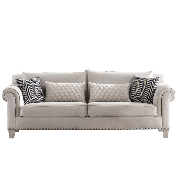 new design contemporary furniture white fabric simple style waiting area sofa