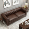 Wholesale office recliner office 7 seater chesterfield corner sofa set genuine leather for sitting room