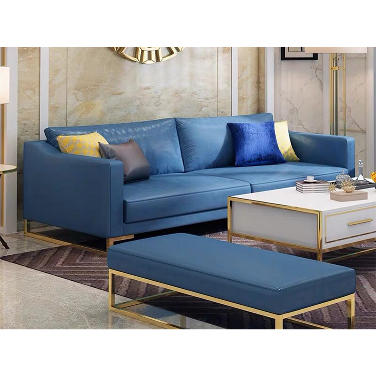 European style custom modern cheap luxury blue couch sofa furniture 7 3 seater set for living room with legs