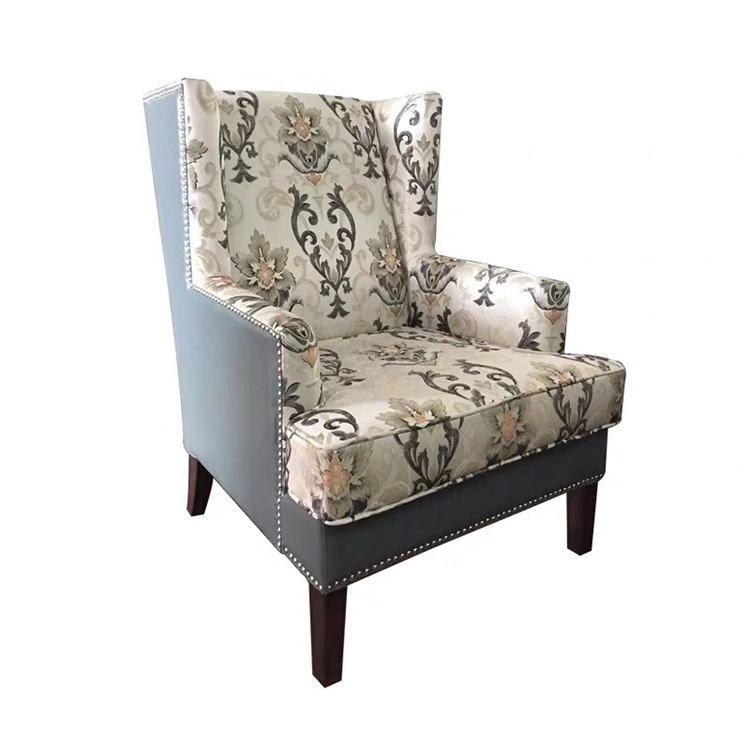 custom flax fabric tufted button armchair lounge single sofa wood frame upholstered accent chair