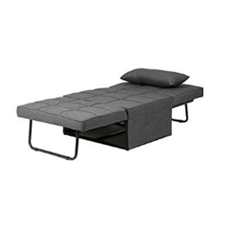 Customized less price home furniture convertible all folding lightweight sofa metal beds lazy