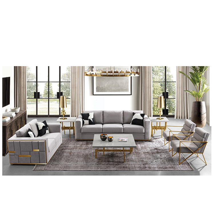Wholesale factory modern cheap latest classic 7 3 2 seater white couch living room sofa sectional