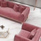 custom designs l shaped living room luxury 2 seater 3 piece pink chesterfield velvet sofa set