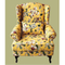 custom cheap modern furniture pastoral style mini single seater fabric sofa armless chair