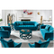 new design navy blue rounded lines modern style home furniture fabric 9 seater sofa set