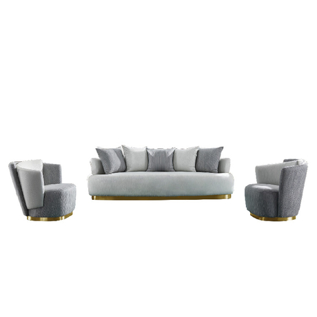 wholesale upholstery vintage sectional combination grey fabric 8 seater sofa set