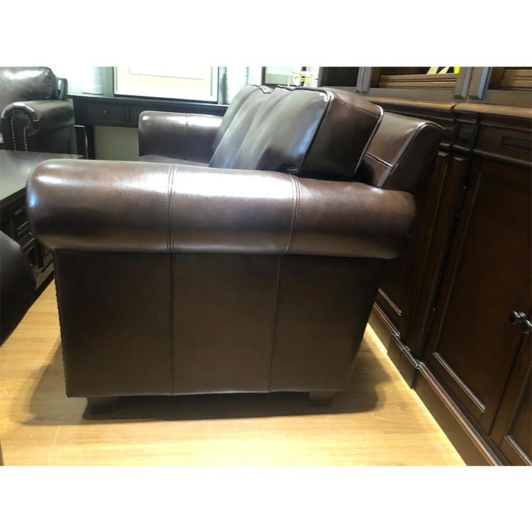 custom morden office reception 3 2 seater brown couches living room sectional furniture luxury leather sofa set three