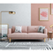 Custom modern luxury designs nordic style wood frame linen couch sofa 2 seater for living room
