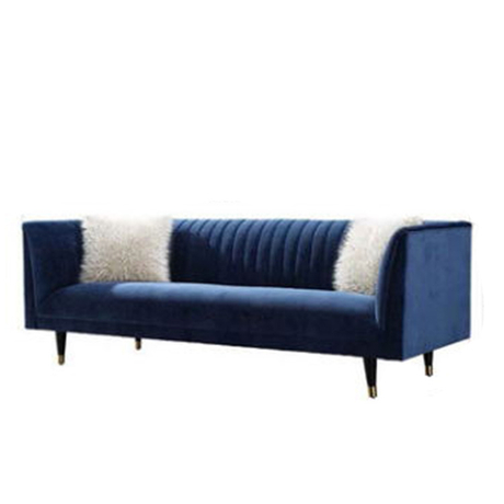 furniture set solid oak wood customized as your designs wooden blue fabric sofa